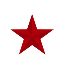 Red Classic Star Icon With Ver...