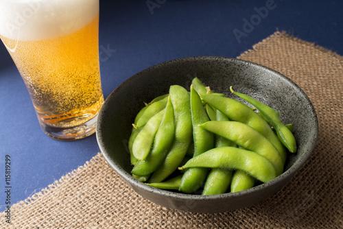 Fotografía  枝豆とビール