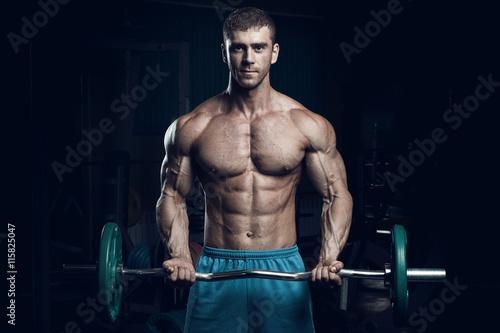 Male bodybuilder, fitness model Plakat
