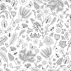 fototapeta jednolity kwiatowy wzór abstrakcyjny