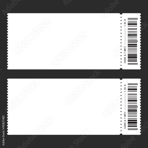 Fotografía  Ticket template vector