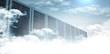 Leinwanddruck Bild - Servers in the clouds
