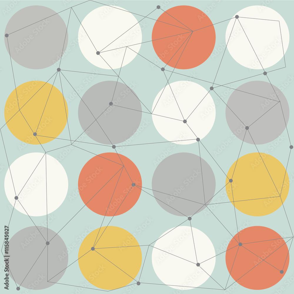Fotografía  Modernos patrón transparente geométrica escandinavo