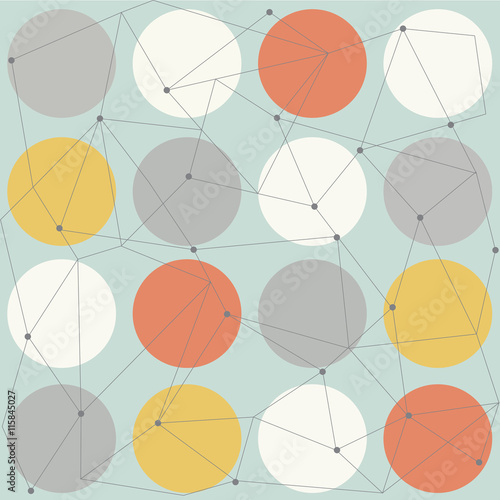 Canvas Print scandinavian geometric modern seamless pattern