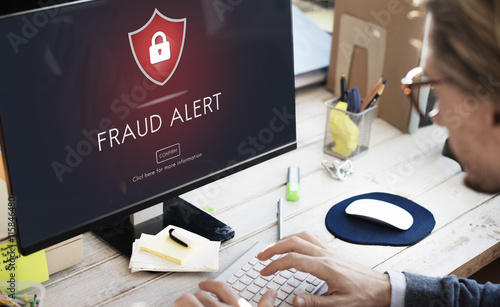 Canvas Fraud Alert Caution Defend Guard Notify Protect Concept
