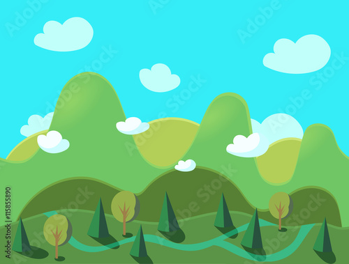 Poster Turquoise Game Background Seamless