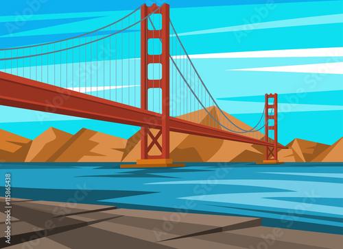Spoed Foto op Canvas Turkoois Golden Gate Bridge in San Francisco