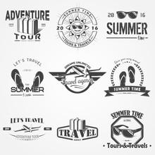 Summer Time Set. Tourist Agenc...