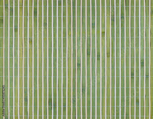 Dried bamboo mat for roll food, bamboo texture background - 115873245