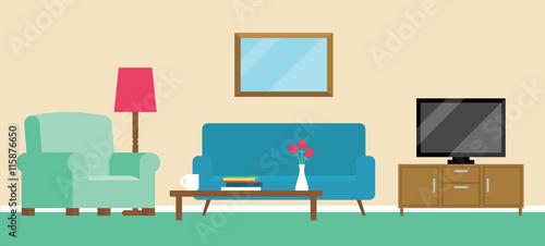 Foto  Background Illustration Of Living Room