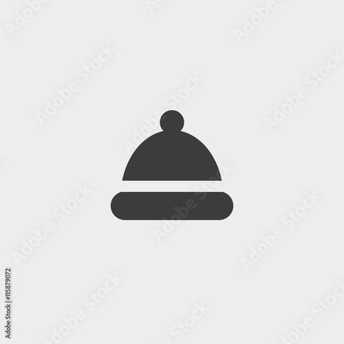 83cfb5b2f46 Winter snowboard cap icon in a flat design in black color. Vector  illustration eps10