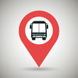 red signal of bus isolated icon design, vector illustration graphic