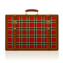 Vintage Brown Threadbare Suitc...