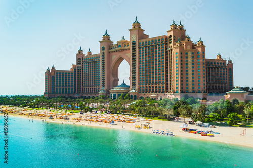 Atlantis Hotel in Dubai, UAE Canvas Print