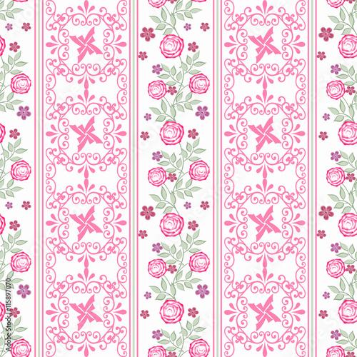 kwiecisty-bezszwowy-wzor-w-retro-stylu-slicznej-kreskowki-rozowych-kwiatow-bialy-tlo