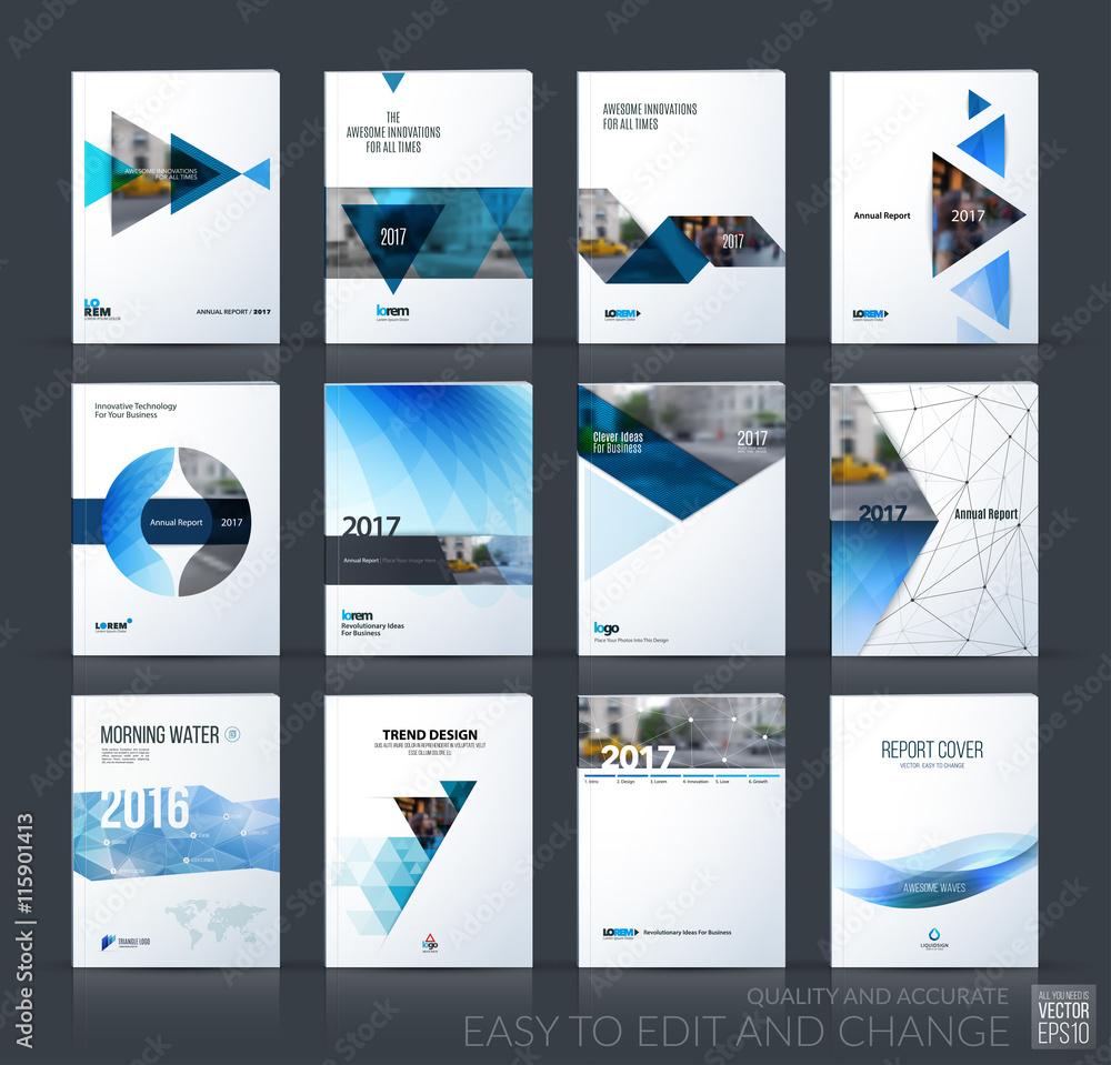 Fototapeta Brochure template layout, cover design annual report, magazine,