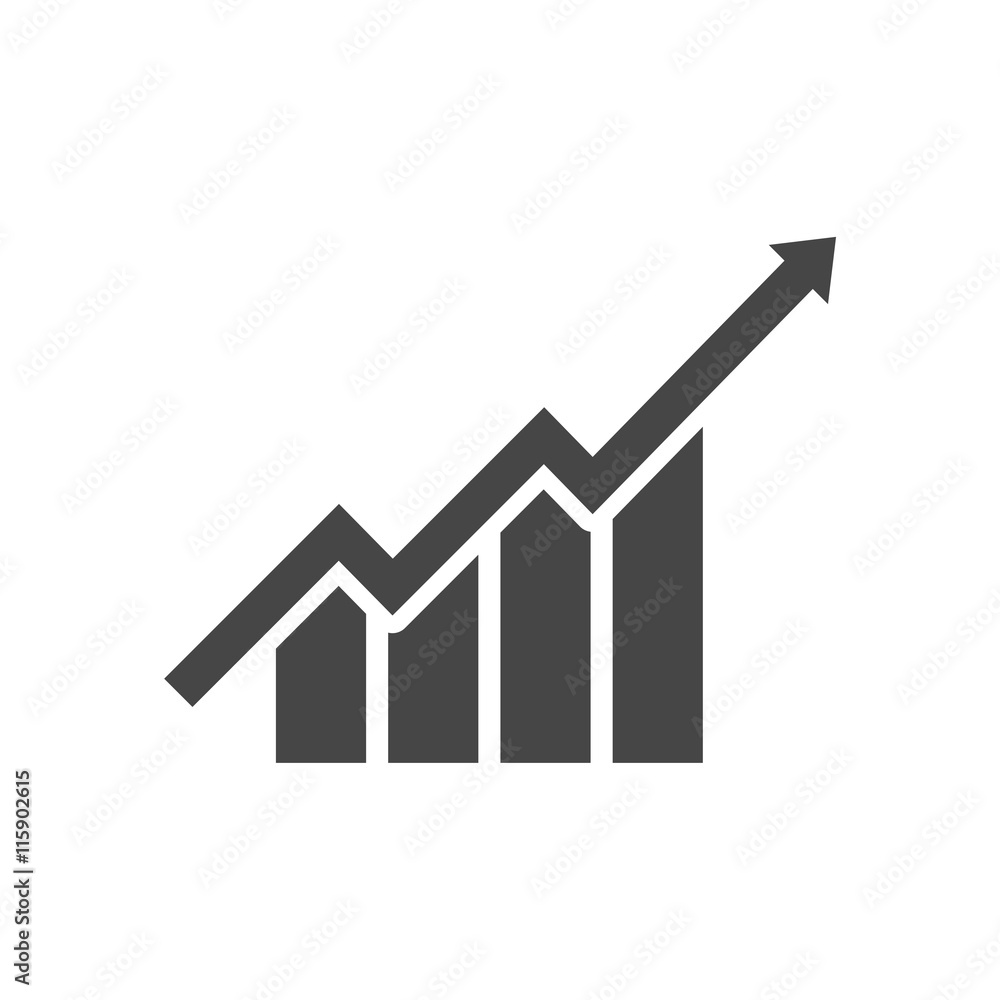 Fototapeta Growth chart - vector icon