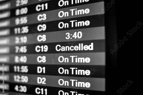 Fotografie, Obraz  Flight Cancelled Notice