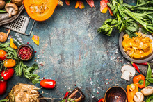 Autumn Vegetables Cooking Prep...