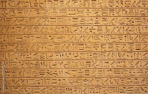 Tuinposter Egypte Hieroglyphs on the wall