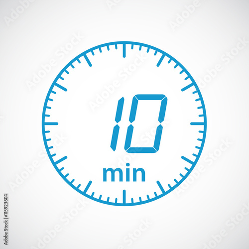 set of timers 10 minutes vector illustration buy this stock vector