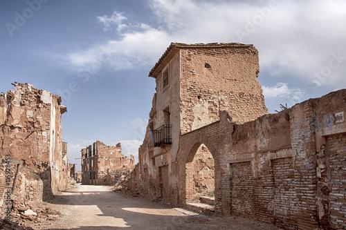Fotografía  Ruinas del pueblo de Belchites Destruido por los bombardeos de la Guerra Civil E