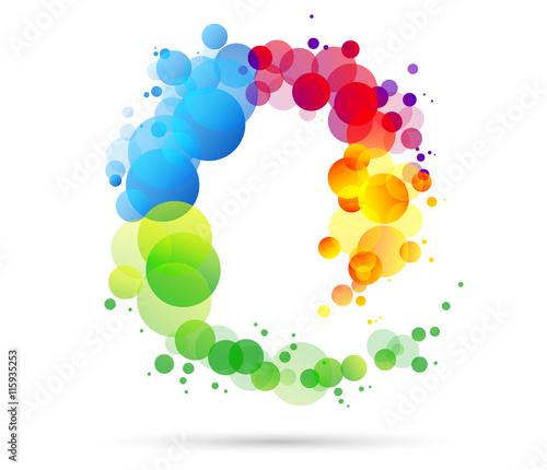 Fotografie, Obraz  sfondo, cromoterapia, spirale, colori forme, arte