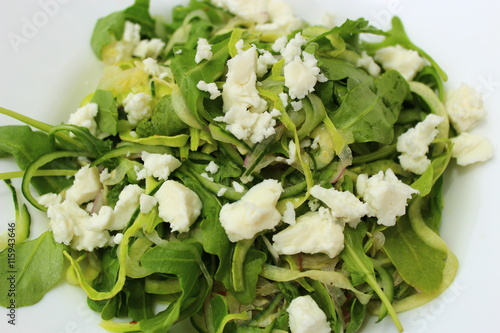 Wall Murals Lily of the valley Cucumber Noodle Salad with Feta, Rocket & Red Wine Vinaigrette