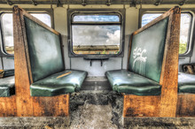Old Vandalized Railcar Compartment