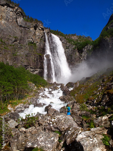 Papiers peints Scandinavie Feigefossen waterfall Norway, Scandinavia