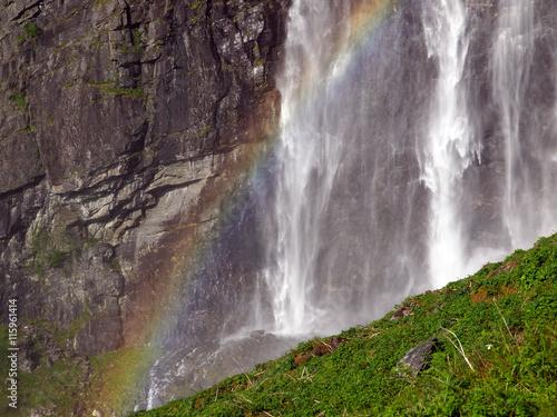 Staande foto Scandinavië Feigefossen waterfall Norway, Scandinavia