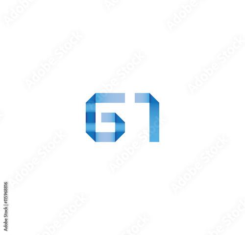 Fototapeta g1 initial simple modern blue