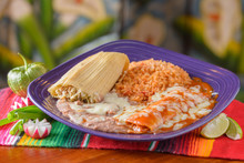 Traditional Mexican Food Combo Plate
