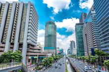 Financial District Office Buildings In Bangkok ,Bangkok Down Town Thailand