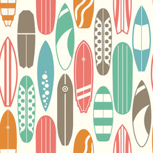 Sea Surfing Pattern With Diffe...