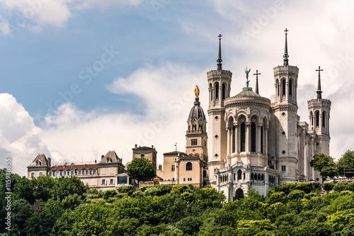 Fototapeta Basilika Notre-Dame de Fourvière in Lyon
