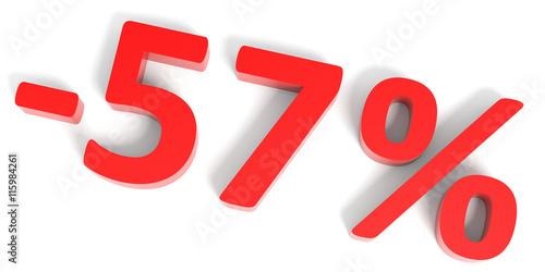 Fotografie, Obraz  Discount 57 percent off sale.