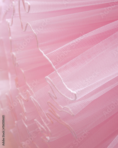 Fotografie, Obraz  Beautiful layers of delicate pink fabric background.