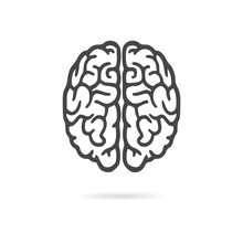 Brain Icon, Brain Logo Silhoue...