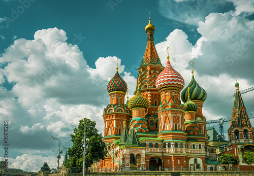 Foto op Canvas Moskou St. Basil`s Cathedral in Moscow