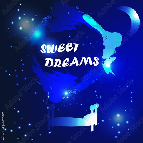 Fototapeta abstract sweet dreams background obraz na płótnie