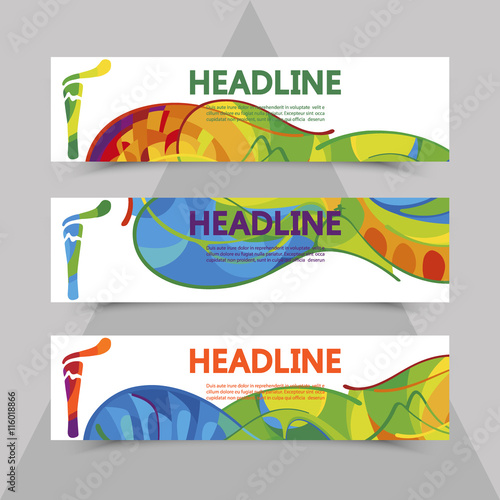 Rio 2016 Olympics flyers with abstract background. Wallpaper Mural