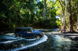 canvas print picture - Daintree River Crossing