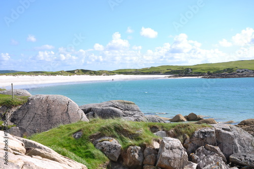 Photo  plage de sable fin et cotes irlande