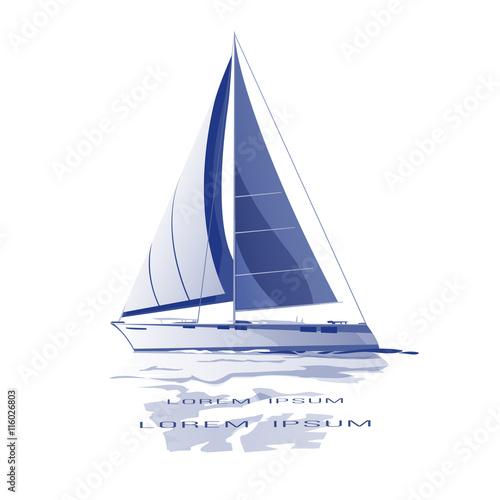 Fotografie, Obraz  Sailing yacht vector