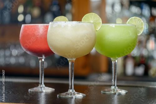 Fotografía Colorful Traditional Mexican drinks