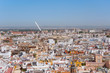 Aerial view of Seville city in Spain