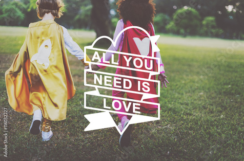 Photo  All You Need Is Love Heart Graphic Concept
