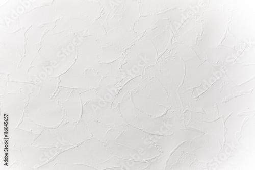 Foto op Plexiglas Wand 白い漆喰壁の模様 Design of the white wall