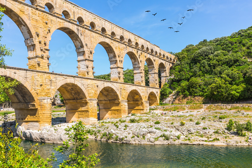 fototapeta na drzwi i meble Pont du Gard is the highest Roman aqueduct